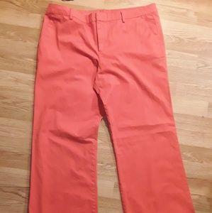 Perfect khakis by gap orange size14 r.